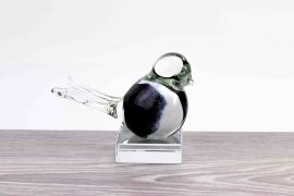 mini urn vogel wit zwart loranto,