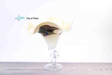 vaas kelk wit met kleur loranto,
