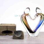 Verbondenheid glasobject kleur loranto,