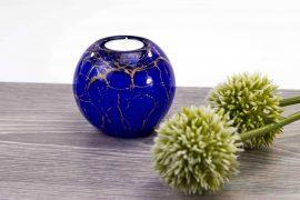 waxinelicht mini urn blauw,