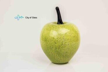 groene appel van glas,