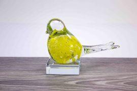 Mini Urn vogel geel,