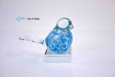 mini urn vogel licht blauw loranto,