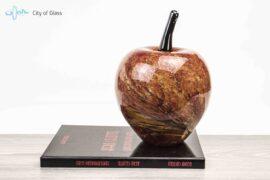 rode appel van glas,