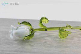 roos van glas wit loranto,