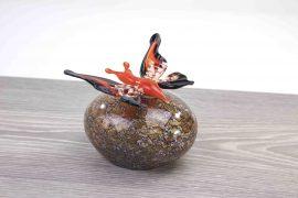 mini urn vlinder rood,