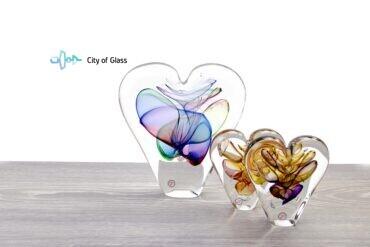 Kristallen hart Ozzaro Groen Blauw