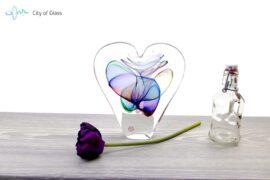 Kristallen hart Ozzaro Groen Blauw sfeer