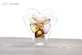 Kristallen hart Ozzaro Groot Geel Paars 1