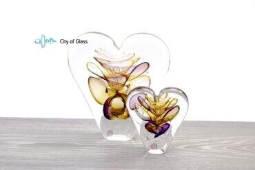 Kristallen hart Ozzaro Groot Geel Paars
