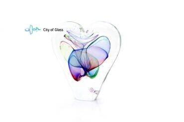 Ozzaro kristal Hart blauw