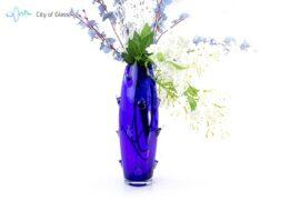 Vaas Cactus Boheems Kristal Blauw