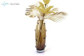 Vaas Cactus Boheems Kristal Bruin sfeer