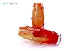 Vaas Cactus Boheems Kristal Rood 2
