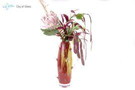 Vaas Cactus Boheems Kristal Rood
