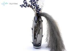 Vaas Cactus Boheems Kristal Zwart